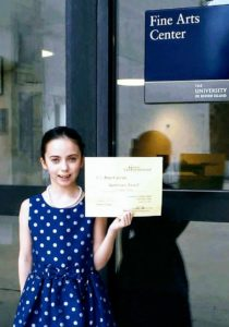 SSC Youth Pianist Wins Beethoven Award at URI
